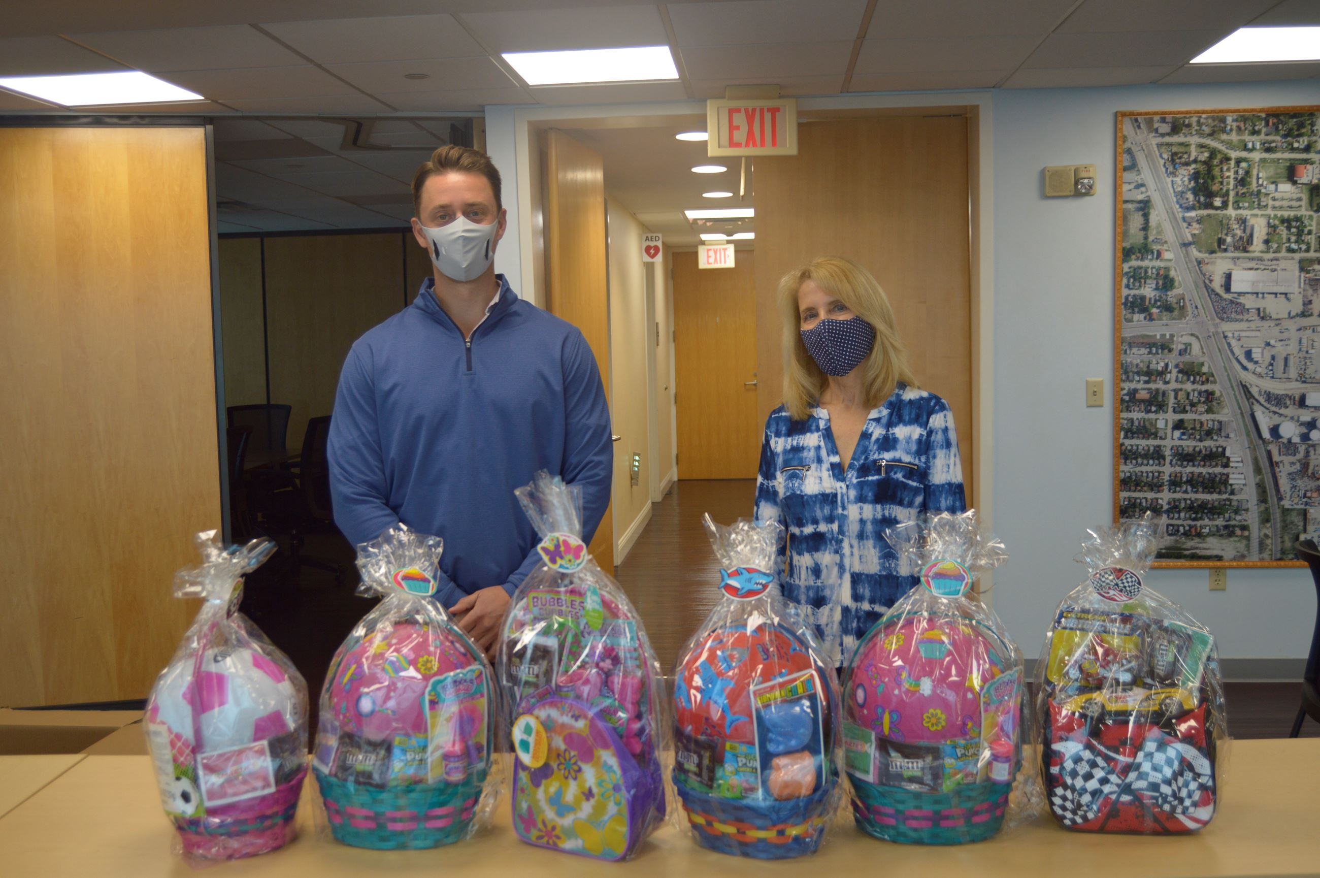 SSI Petroleum staff donating Easter baskets